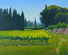 "Afternoon in the Vineyard - Oil on canvas, 8"" x 10"""
