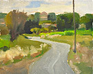 "Backroad to Caromb - Oil on canvas, 8"" x 10"""