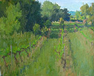 "Morning in the Vineyard - Oil on canvas, 9"" x 12"""
