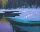 "Winter on the Truckee - Oil on canvas 48"" x 60"""