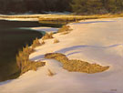 "Winter on the Beaver River - Oil on canvas 24"" x 36"""